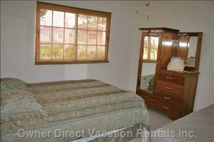 2nd Queen Bedroom with Locking Armoire - Regular Queen Bed plus a Small Queen Air Bed for Kids
