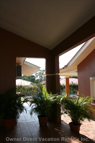 Carport to Pavillion - Casa and Casita and Outdoor Living Areas Are Surrounded in Tile