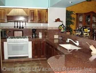 Gourmet Kitchen with Granite Countertops