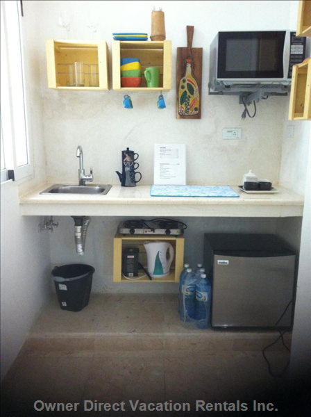 Kitchenette. Basic Amenities.