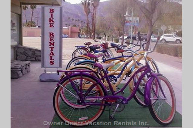 Hike & Bike in La Quinta. Maps of Trails Available and Bikes Too in Old Town Lq