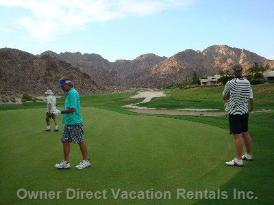 All Year Round Play Golf La Quinta Mountain Course. The Greatest and most Challenging 18 Hole 10 Min Walk from Condo