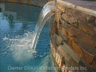 Spillway from the Spa into the Pool
