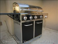 Large Natural Gas Bbq, no Propane Tanks to Worry About.