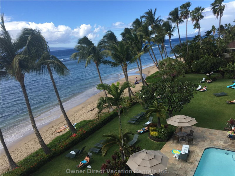 Lahaina Shores is the Only Oceanfront  Hotel in Lahaina.