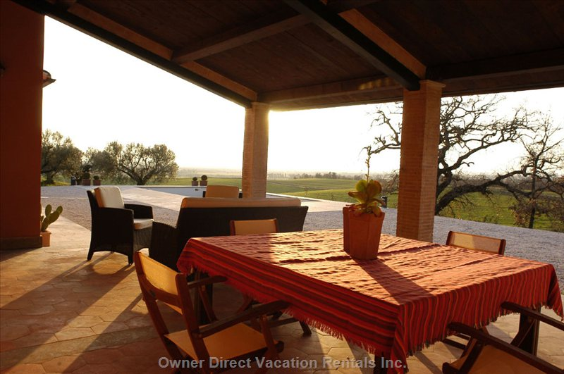 Veranda - Overlooking the Valley and the Pool