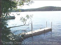 The Twenty Foot Floating Dock Will Accomodate your Morotboat Easily