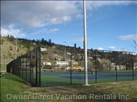 Free Public Tennis Courts Next Door -  Opened 2011, 5 Minute Walk from our Front Door
