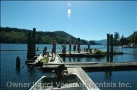 Swimming, Fishing and Moorage Dock