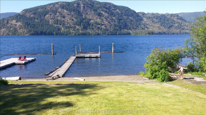 Private Dock & Swimming Area with Beach Access