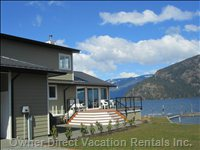 Have your Dream Vacation in this Beautiful 5 Bedroom Home on Lake Cowichan with its Private Beach, Swimming Area, Dock and Boat Ramp