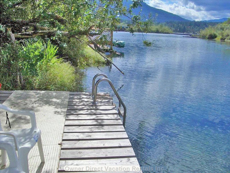 Swimming Ladder on Wharf