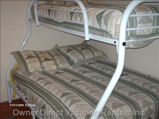 2nd Bedroom has 3 Beds, this is a  Set of Single and Double Bunk Beds