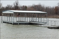 Two Stall Boat Dock - Deep Water Dock. (2) 24 X 10 Slips.  Additional Parking of Boats on Sides of Dock