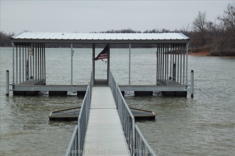 Another View of Boat Dock - Deep Water  (2) 10x 24 Boat Slips.  New Dock