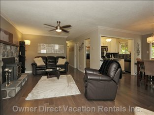 Ceiling Fan, High Definition Tv and Very Comfortable Lazyboy Recliner