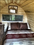Inside the Cozy Pod is a Double Bed