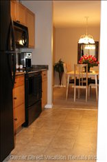 Dining Room is Convenient to Kitchen, Making Clean up Easy which Means more Time for Fun!