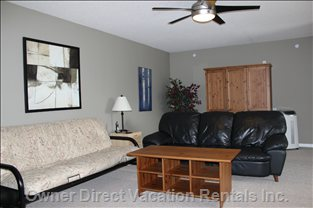 Comfortable Loft Area...Whether you Use it as a Bedroom, Or a Gathering Area for Movies and games...Or both!