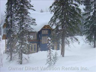 Another Snowy Day! - View of Chalet from X-country Ski Trail