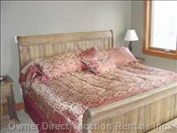 Master Bedroom King Sleigh Bed