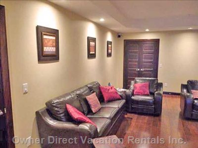 Comfortable Living Areas and Media Room