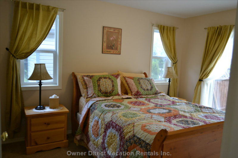 Beautiful Appointed Bedroom - Master Bedroom with Sliding Doors Leading onto the Patio Area and Walk in Wardrobe