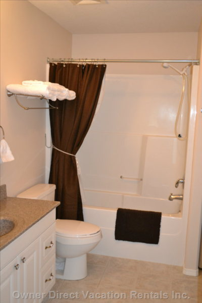 Sumptuous Bathroom - Enjoy our Bathroom Complete with Shower