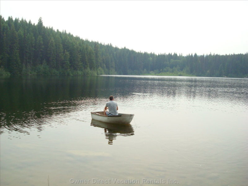 Fishing on Nearby Silver Lake - Visit many our other Nearby  Lakes