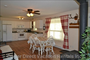 Our Fully Equipped Kitchen, Fridge with Ice Maker, Dishwasher and Spacious Dining Area