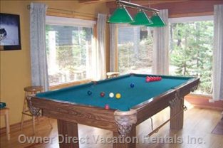 Slate Standard Pool Table with 8 Ball