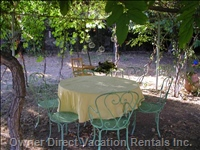 Beautifully Planted Gazebo - Provides for Meals in the Shade