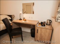 Working Desk at Old Town Rooms and Apartments - Double Room