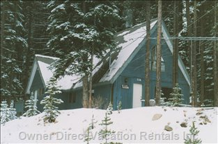 Private Location, Nestled in the Trees, but Lots of Sunlight and Snow!