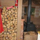 Interior Wood Pile, this is one of 2 Wood Storage Locations inside the Cabin - There is another Interior Wood Storage Location at the Back Door, with Loads more Wood.