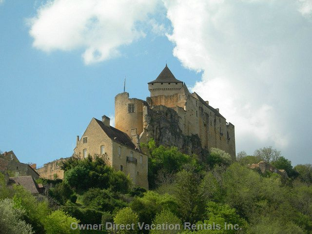 Castlenaud, Located 5 Minutes from the House. You Can See the Castle with Uplights at Night from the Terrace