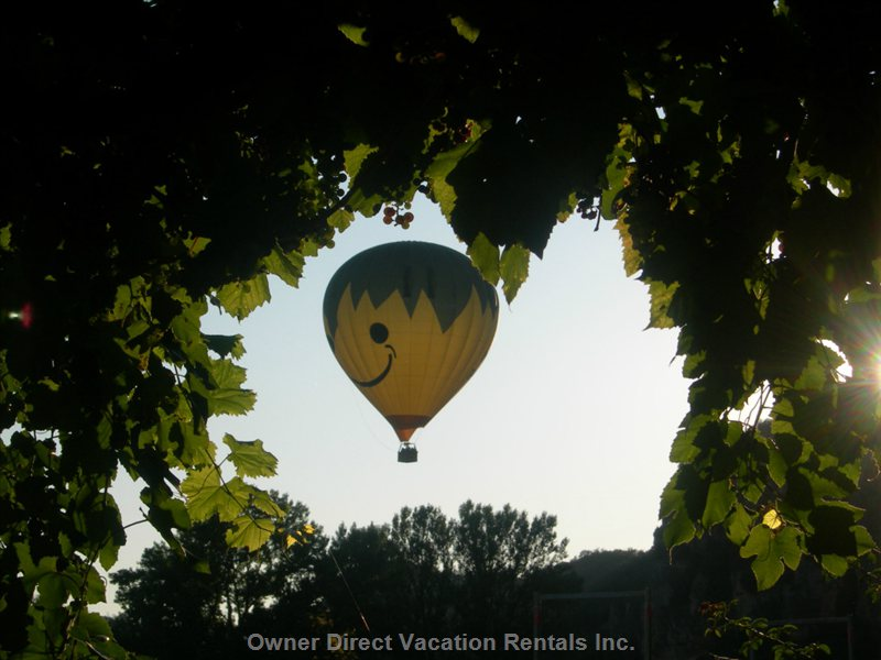 Hot Air Balloon Seen from the Terrace