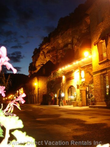 Nighttime in La Roque Gageac