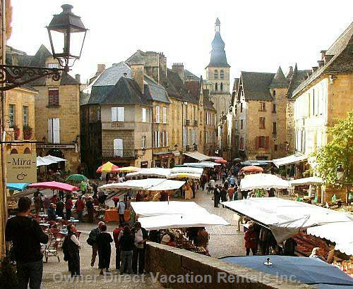 Market Day in Sarlat, 15 Minutes  from the House. One of many Fabulous Locations
