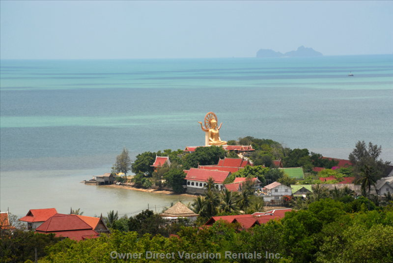 Big Buddha and Gulf of Thailand
