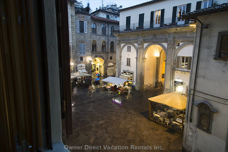 View from the Kitchen of the Piazza San Pier Maggiore