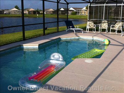 Our Oversized South Facing Pool.