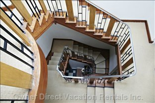 Central Winding Staircase