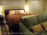 Master Bedroom - Keep yourself Warm in Here, Enjoy your Favorite Movie on the 50 Inch TV.