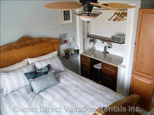 Guest Bedroom - Ceiling Fan Gives you the Ultimate Comfort.