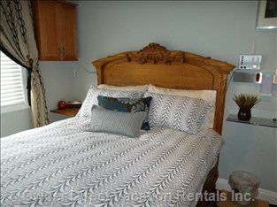2nd Bedroom - Queen Size Bed with Electric Heated Mattress Top. So Comfortable, you May Want to Sleep In.
