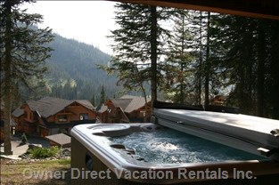 Relax in 5 Man Hot Tub after a Days Ski