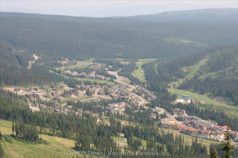 Sunpeaks Village in the Summer Hiking