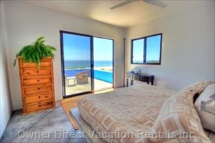 Large Master Bedroom, Spectacular Views, Private Deck