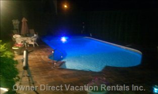 Night Picture of Pool Area